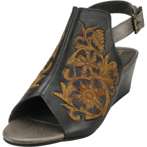 Roper Women's Rowan Ankle-High Leather Wedged Sandal