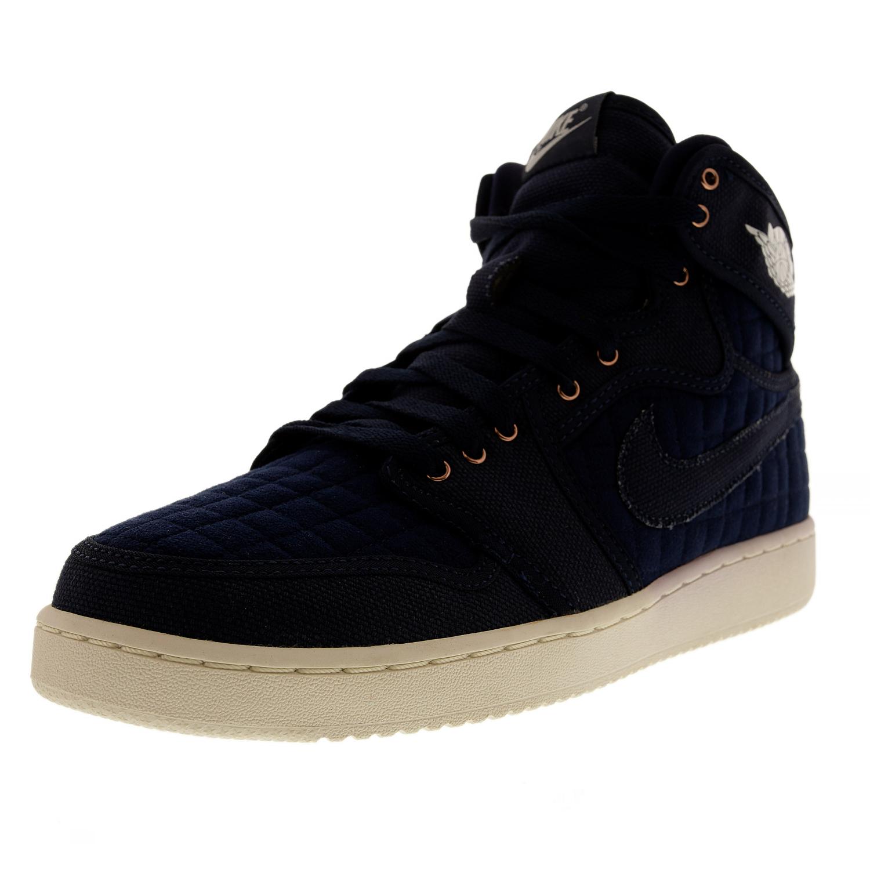 quality design 70ed1 17abc Nike Air Jordan 1 Aj1 KO High OG Quilted Sz 9.5 Obsidian Blue White 638471  403