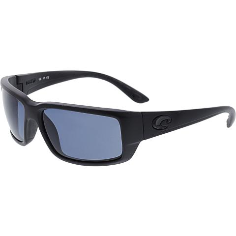 Costa Del Mar Polarized Fantail TF01OGP Black Rectangle Sunglasses
