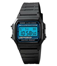 Casio Men's Illuminator F105W-1A Black Resin Quartz Watch