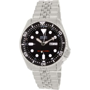 Seiko Men's Diver Automatic SKX007K2 Silver/Black Stainless-Steel Automatic Watch