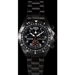 Chase-Durer Men's Special Forces Air Assault Chronograph 146.4BB4-BR12 Black Stainless-Steel Swiss Quartz Watch