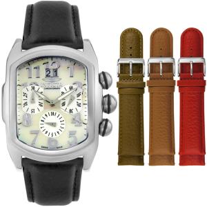 Invicta Men's Lupah 4392 White Leather Swiss Quartz Watch