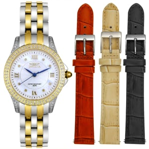 Invicta Women's Specialty 4399 Mother-Of-Pearl Steel Two-tone Swiss Quartz Watch