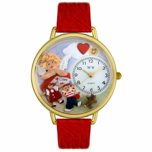 Whimsical Watches Unisex Day Care Teacher Gold Watch G0630015