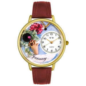 Whimsical Watches Unisex Birthstone: January Gold Watch G0910001