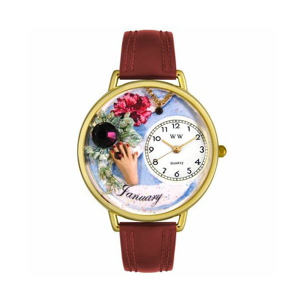 Whimsical Watches Unisex Birthstone: January Gold Watch G0910001 - Main Image