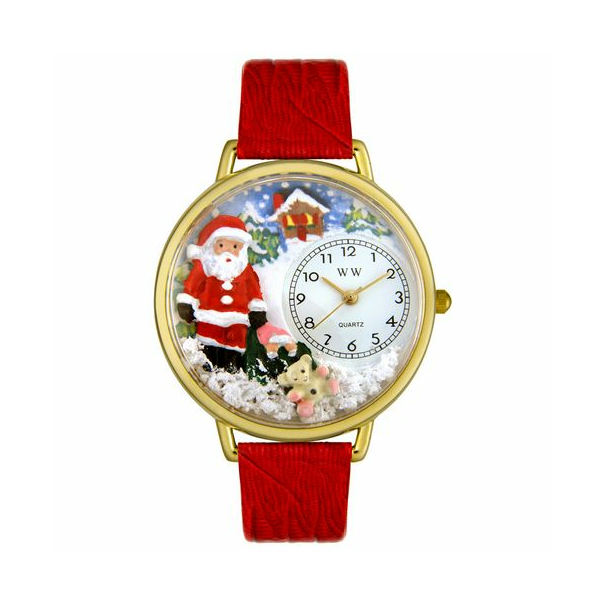 Whimsical Watches Unisex Santa Claus Gold Watch G1220009 - Main Image