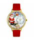 Whimsical Watches Unisex Santa Claus Gold Watch G1220009 - Main Image Swatch