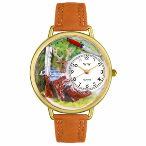 Whimsical Watches Unisex Hunting Gold Watch G1220019