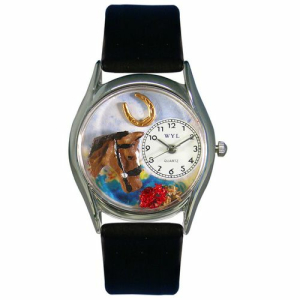 Whimsical Watches Unisex Horse Head Silver Watch S0110007