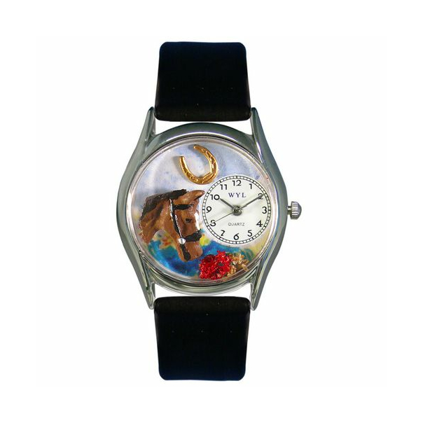 Whimsical Watches Unisex Horse Head Silver Watch S0110007 - Main Image