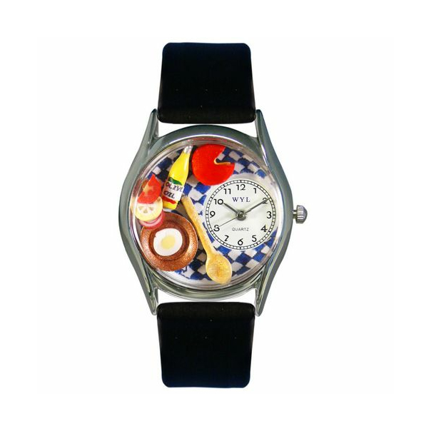 Whimsical Watches Unisex Gourmet Silver Watch S0310001