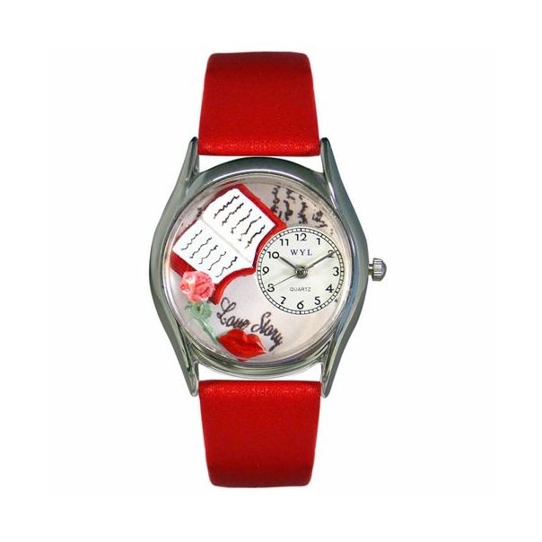 Whimsical Watches Unisex Love Story Silver Watch S0450001 - Main Image