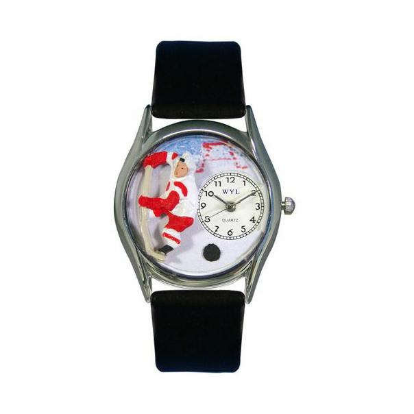 Whimsical Watches Unisex Hockey Silver Watch S0820002
