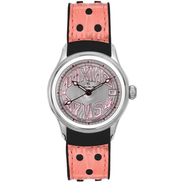 Officina Del Tempo Women's Safari Revolution GT Chrono OT1026/02APSNP Silver Rubber Quartz Watch