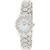 Bulova Women's Marine Star 96R105 Mother-Of-Pearl Stainless-Steel Quartz Watch