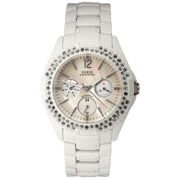 Guess Women's G12543L Mother-Of-Pearl Stainless-Steel Quartz Watch