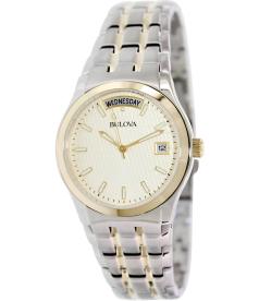 Bulova Men's 98C60 Gold Two-tone Stainless-Steel Quartz Watch