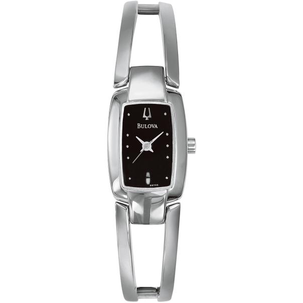 Bulova Women's 96T03 Black Stainless-Steel Quartz Watch