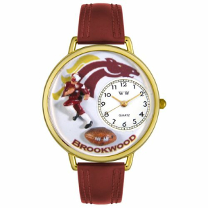 Whimsical Watches Unisex Football Fundraising Gold Watch G1120006