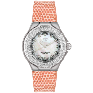 Technomarine Women's TechnoLady DTLSW-O White Lizard Leather Swiss Quartz Watch