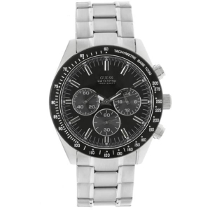 Guess Men's U12505G1 Black Stainless-Steel Quartz Watch
