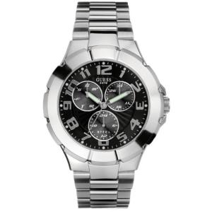 Guess Men's G10178G Black Stainless-Steel Quartz Watch