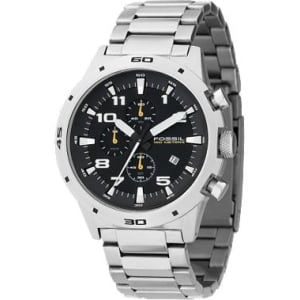 Fossil Men's Chronograph Black Dial CH2517 Black Stainless-Steel Quartz Watch