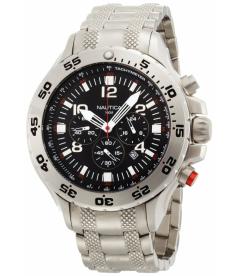 Nautica Men's Metal N19508G Black Stainless-Steel Quartz Watch