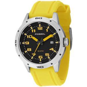Fossil Men's AM4202 Black Resin Analog Quartz Watch
