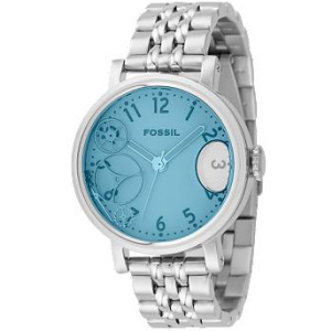 Fossil Women's JR9950 Blue Stainless-Steel Analog Quartz Watch