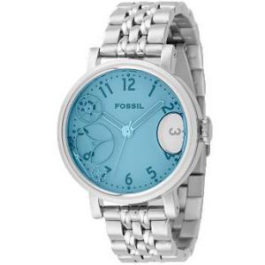 Fossil Women's JR9950 Blue Stainless-Steel Analog Quartz Watch