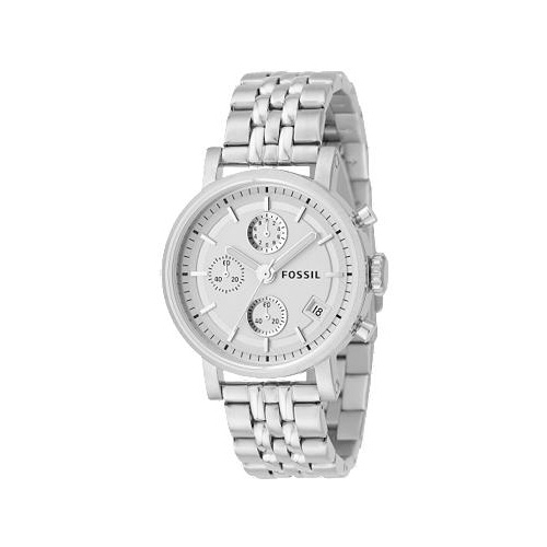 fossil s es2198 silver stainless steel quartz