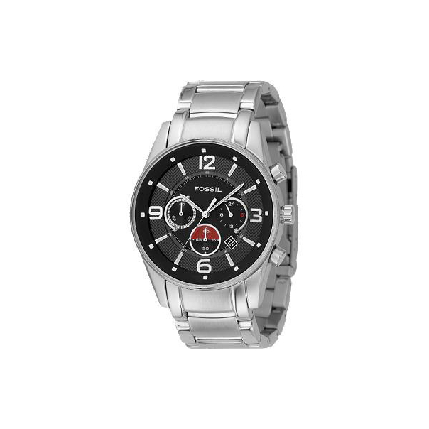 Fossil Men's FS4445 Black Stainless-Steel Quartz Watch