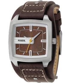 Fossil Men's JR9990 Brown Leather Quartz Watch