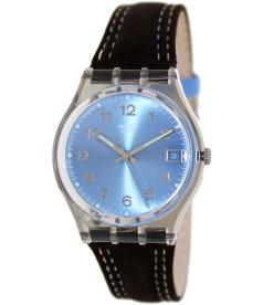 Swatch Women's Originals GM415 Blue Cloth Quartz Watch