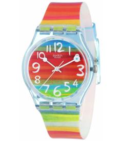 Swatch Women's Originals GS124 Red Rubber Quartz Watch