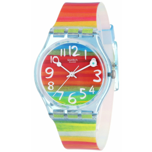 Swatch Women's Originals GS124 Multi Rubber Quartz Watch
