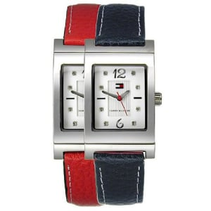 Tommy Hilfiger Women's Reversible 1780565 Silver Leather Quartz Watch