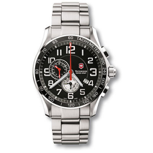 Victorinox Swiss Army Men's 241280 Black Stainless-Steel Swiss Quartz Watch