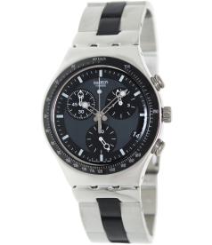 Swatch Men's Irony YCS410GX Black Stainless-Steel Quartz Watch