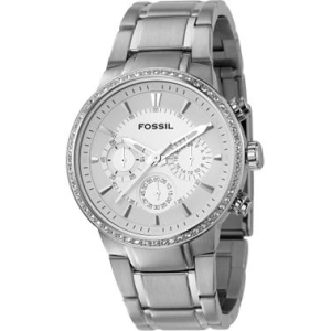 Fossil Men's Chronograph Silver Dial FS4470 Silver Stainless-Steel Quartz Watch