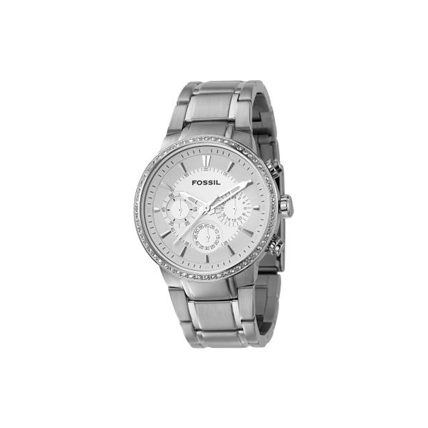 Fossil Men's Chronograph Silver Dial Watch FS4470 - Main Image