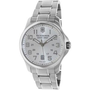 Victorinox Swiss Army Men's 241359 Silver Stainless-Steel Swiss Quartz Watch