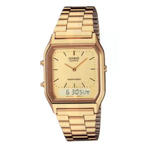Casio Men's AQ230GA-9D Gold Metal Quartz Watch