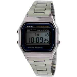 Casio Men's Core A158WA-1 Silver Stainless-Steel Quartz Watch
