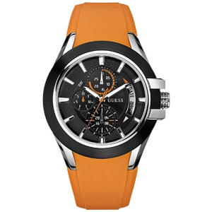 Guess Men's U10575G2 Black Rubber Quartz Watch