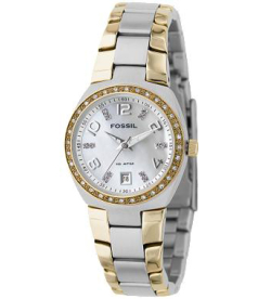 Fossil Women's AM4183 Silver Stainless-Steel Analog Quartz Watch