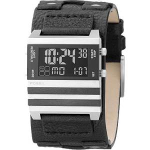 Fossil Unisex JR9747 Black Leather Quartz Watch